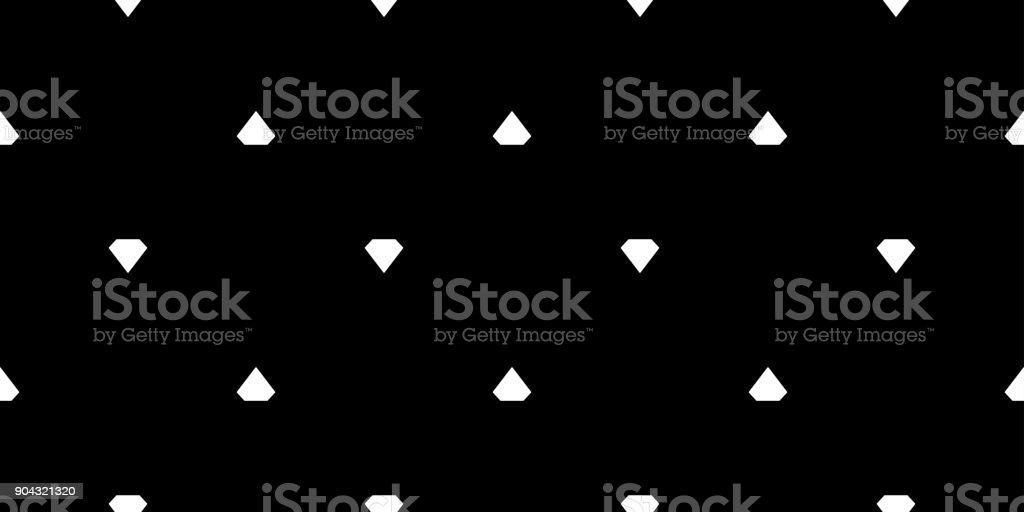 Seamless Pattern Diamond Gem Icon Vector Background Wallpaper