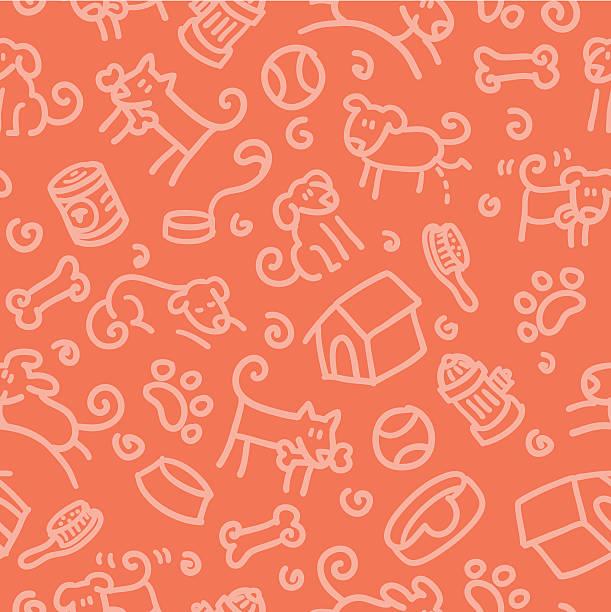 nahtlose muster: hund - hundebetten stock-grafiken, -clipart, -cartoons und -symbole