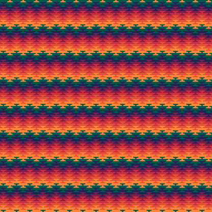 Seamless pattern. Ethnic ornament. Embroidery background. Tribal wallpaper. Ethnical folk image. Tribe motif. Ancient mosaic. Digital paper, web design, textile print, backdrop. Vector artwork