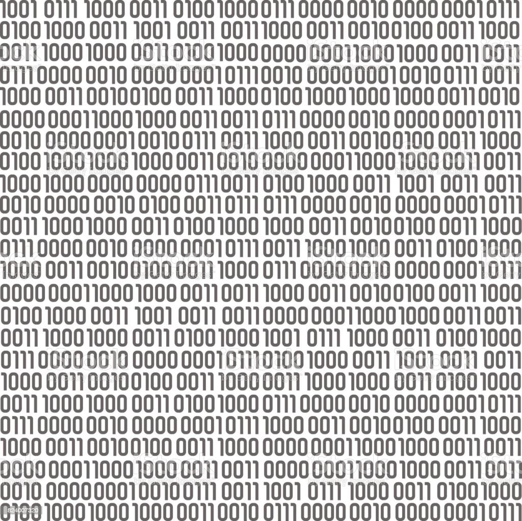 Seamless Pattern Filled In Real Binary Symbols Stock Illustration