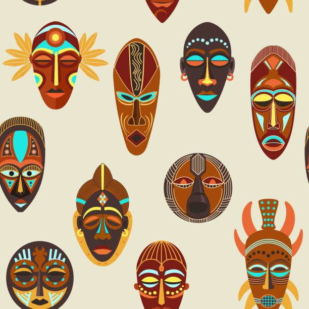 Masque Africain Vectoriels et illustrations libres de droits - iStock