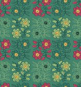 Seamless pattern flower in ethnic style. Vector illustration.