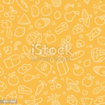 seamless pattern: food