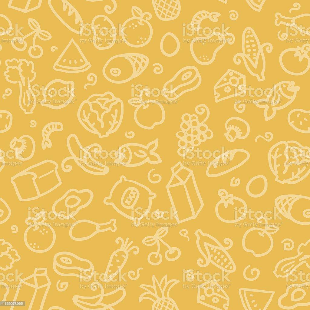 Patrón sin costuras: Los alimentos - ilustración de arte vectorial