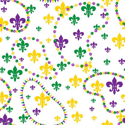 Seamless pattern for carnival, festival