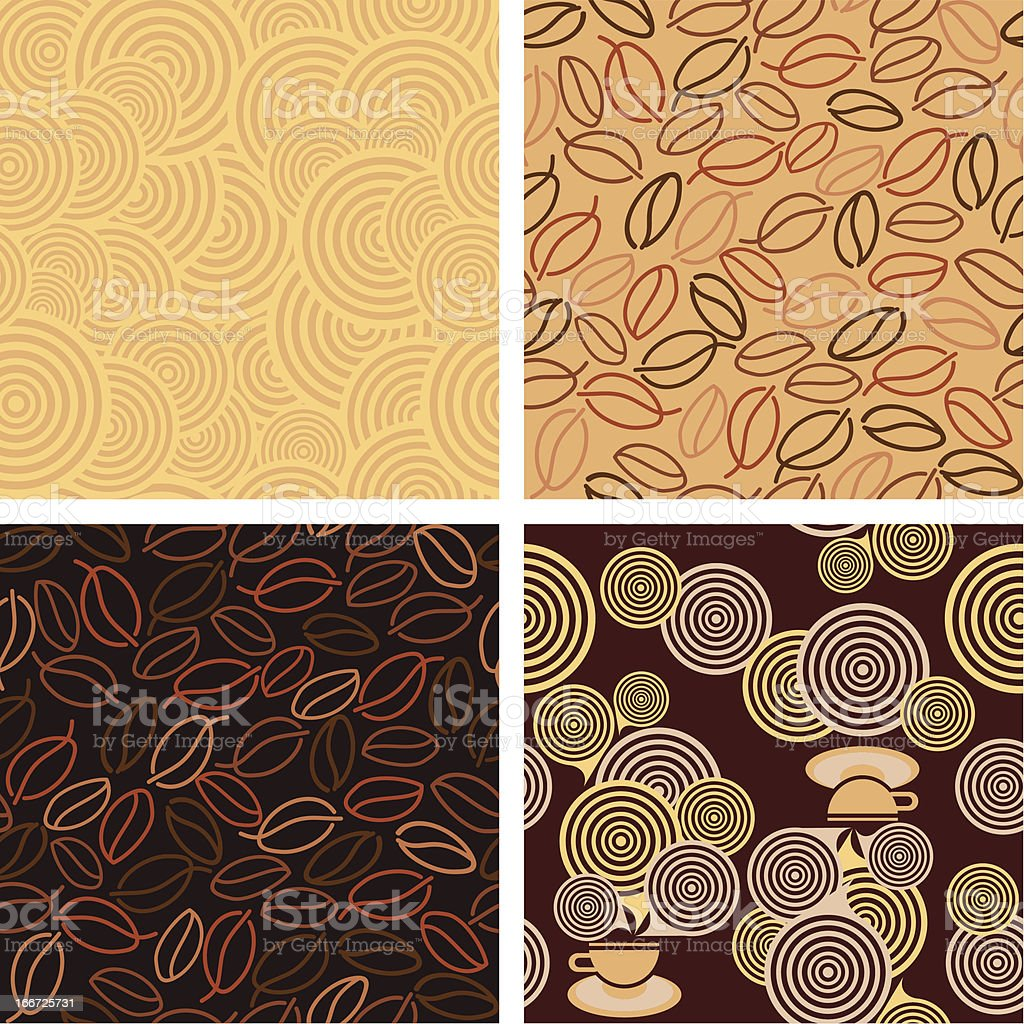 seamless pattern for Coffee style design royalty-free stock vector art