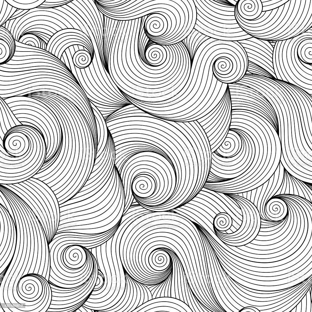 Nahtlose Muster Für Malbuch Vektor Illustration 497484812   iStock