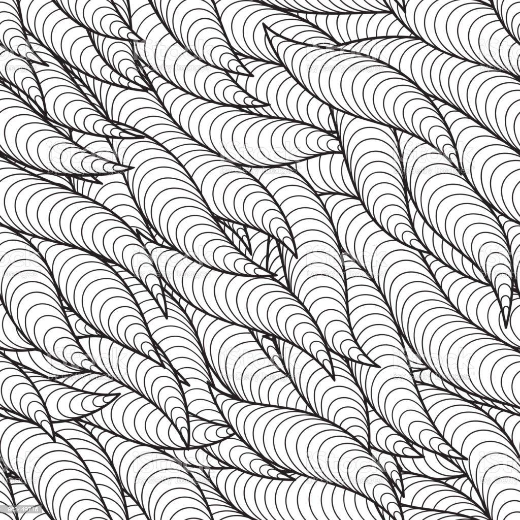 Seamless Pattern for coloring book. - Grafika wektorowa royalty-free (Abstrakcja)
