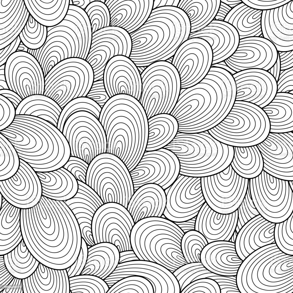 Motif sans couture pour un livre de coloriage. - clipart vectoriel de Abstrait libre de droits