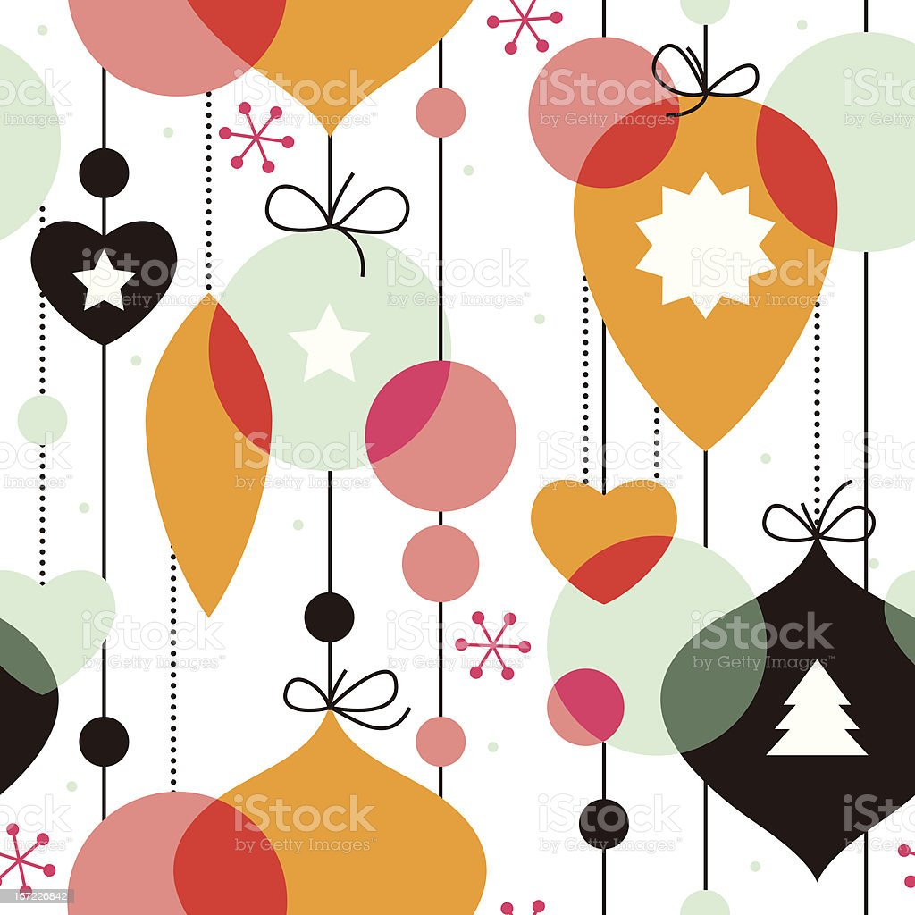 Seamless pattern for New Year royalty-free stock vector art