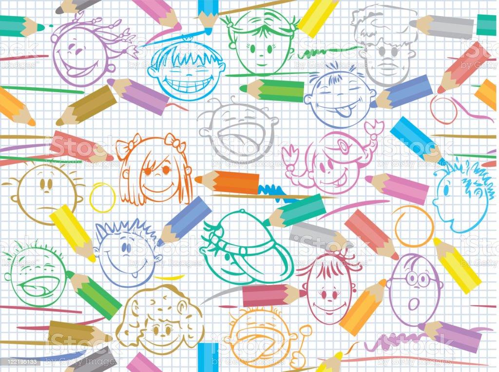 Seamless pattern  for school design. royalty-free stock vector art