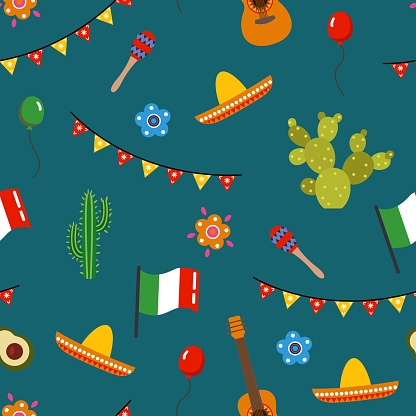 Seamless pattern for the holiday Cinco de mayo.