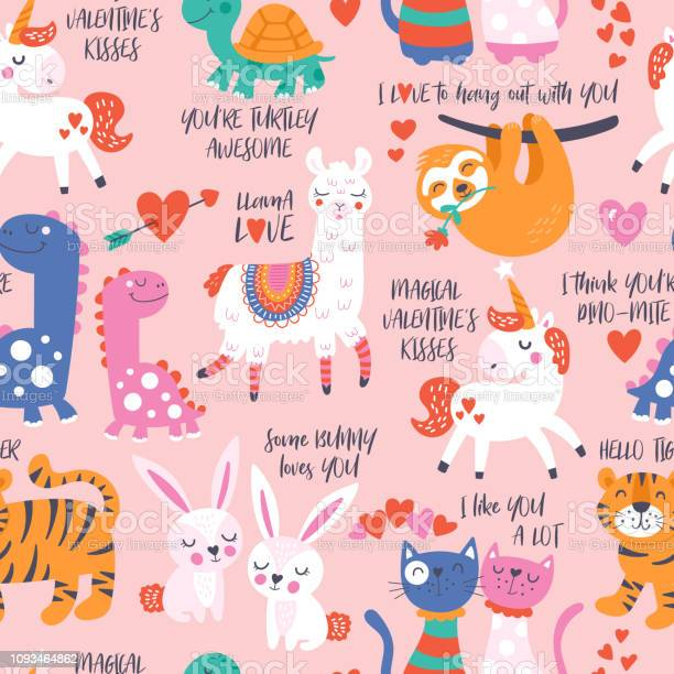Seamless pattern for valentines day with cute animals in love vector id1093464862?b=1&k=6&m=1093464862&s=612x612&h=tjm x9kl2ljwx847pmz0y b9dk9lzrxzqukhq4bg2cm=