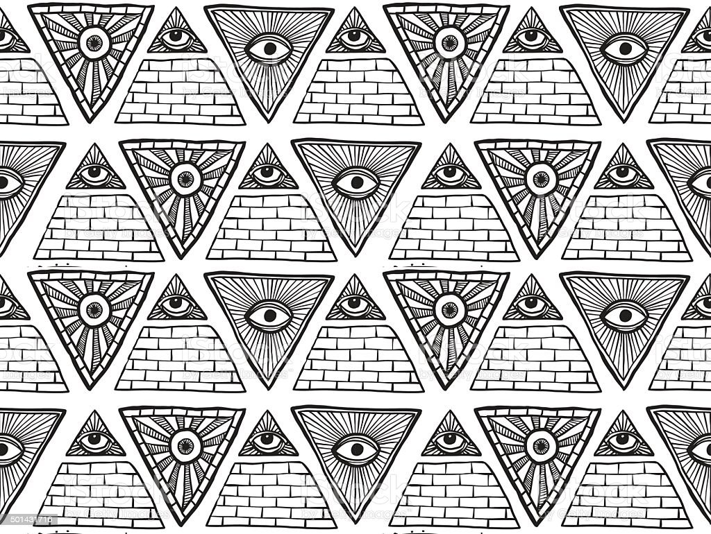 Seamless Pattern From Masonic Symbols White Stock Vector Art More
