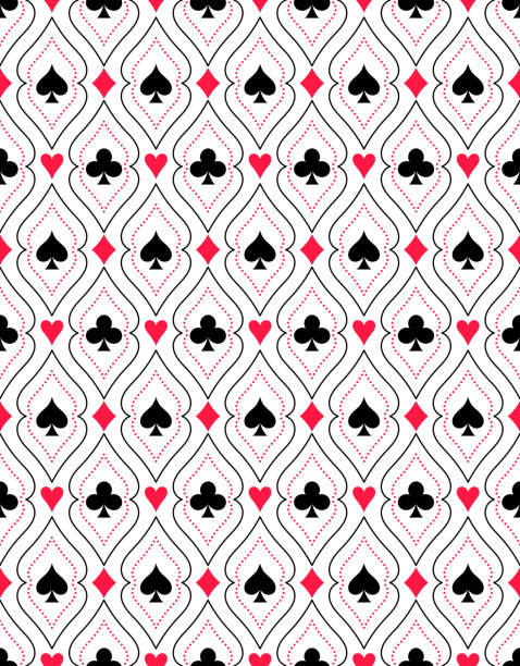 seamless pattern from - kartenspielen stock-grafiken, -clipart, -cartoons und -symbole