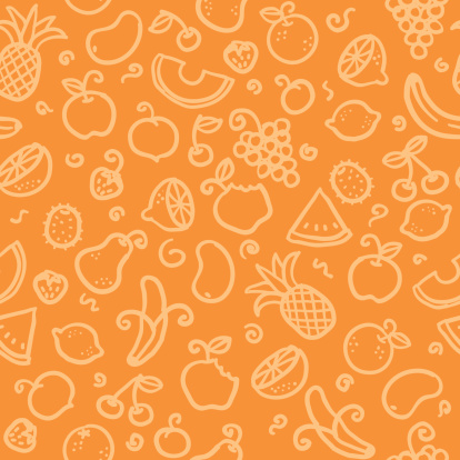 seamless background with hand drawn fruit illustrations. just drop into your illustrator swatches and use as a tiled fill. more similar images: