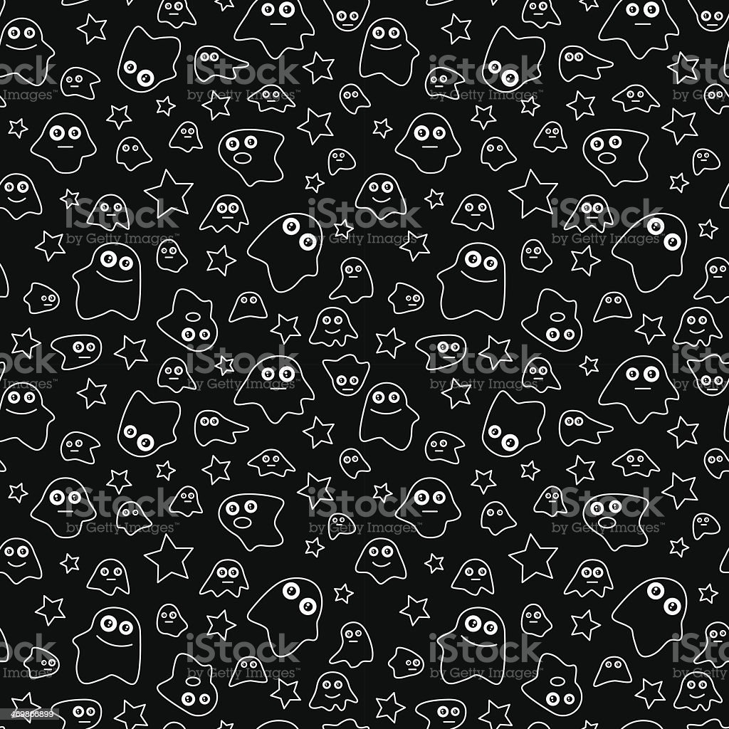 Seamless pattern ghost royalty-free stock vector art
