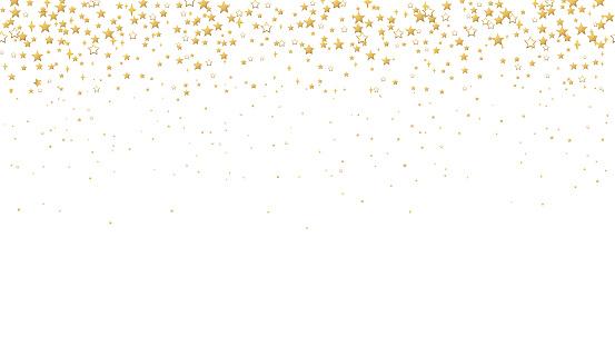 Seamless pattern Gold stars confetti
