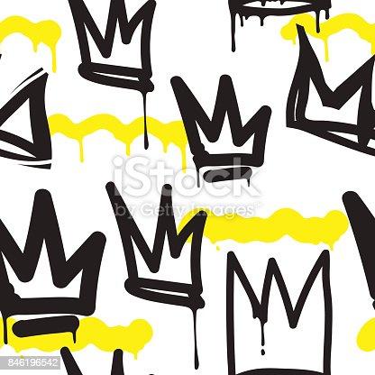 istock Seamless pattern graffiti 846196542
