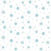 Seamless pattern hand drawn white snow flakes on white, simple winter background. design for holiday greeting cards and invitations of the Merry Christmas and Happy New Year, winter holidays.
