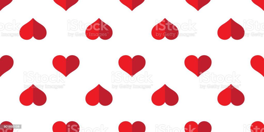 Nahtlose Muster Herz Valentinstag Vektor Liebe Symbol Wallpaper