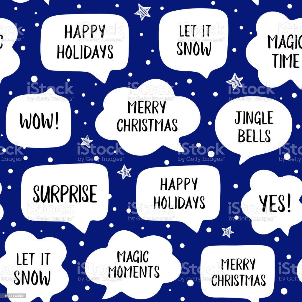 Standard Weihnachtsgrüße.Nahtlose Muster Urlaub Sprechblasen Mit Weihnachtsgrüße Frohe