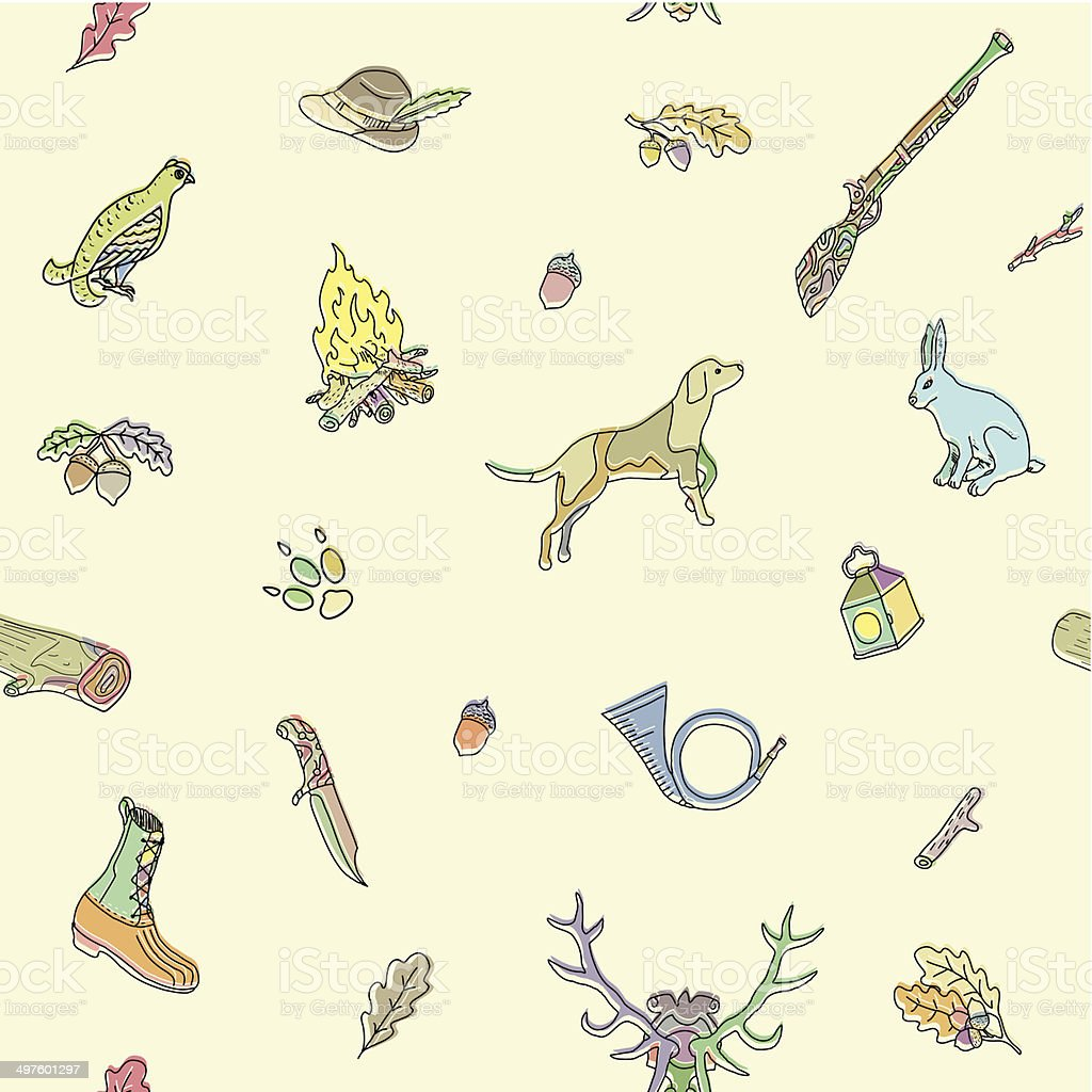 Seamless pattern. Hunting. royalty-free seamless pattern hunting stock vector art & more images of accuracy