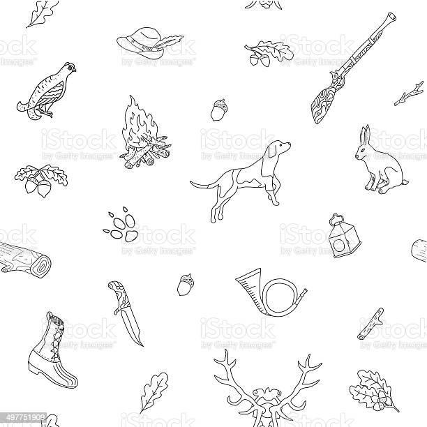 Seamless pattern hunting vector id497751909?b=1&k=6&m=497751909&s=612x612&h=ckbkia8ga971xgkvxaqol5ftrz3myxfd7rcyjwbki1k=