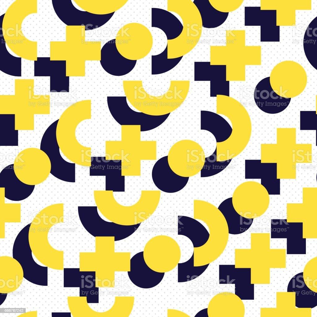 Seamless pattern in 90 80 style seamless pattern in 90 80 style - immagini vettoriali stock e altre immagini di 1980-1989 royalty-free