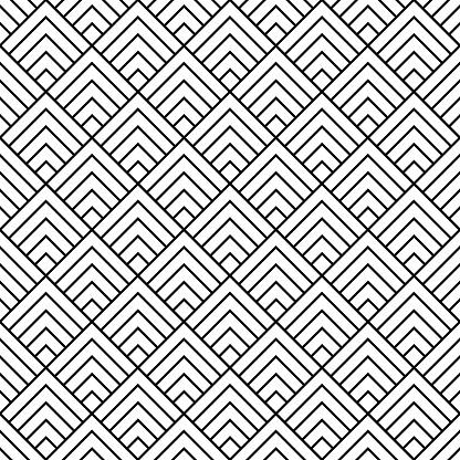 Seamless pattern in art deco style.