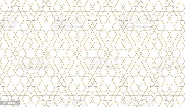 Seamless Pattern In Authentic Arabian Style Unexpanded Strokes - Arte vetorial de stock e mais imagens de Abstrato