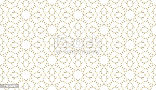 istock Seamless pattern in authentic arabian style. 928344322