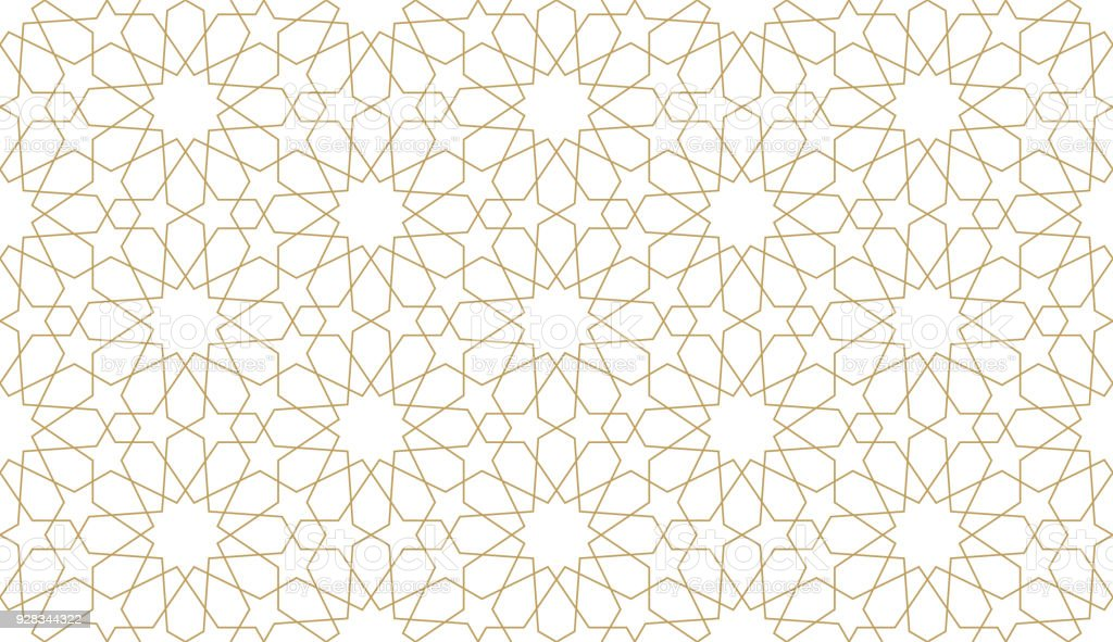 Seamless pattern in authentic arabian style. vector art illustration
