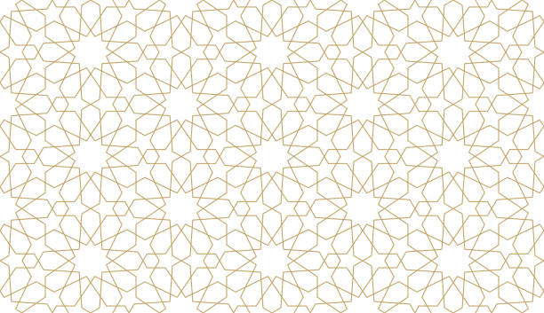 seamless pattern in authentic arabian style. - arab stock illustrations
