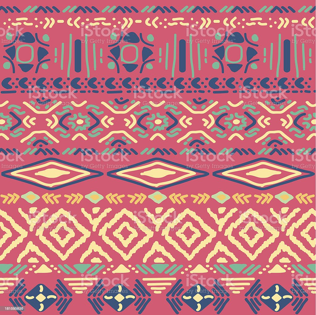 seamless pattern in aztec style vector art illustration