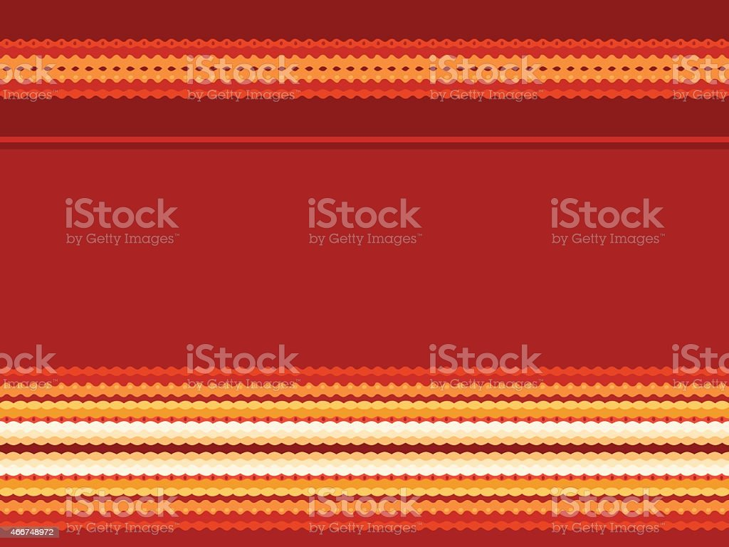 Seamless pattern in red and yellow vector art illustration