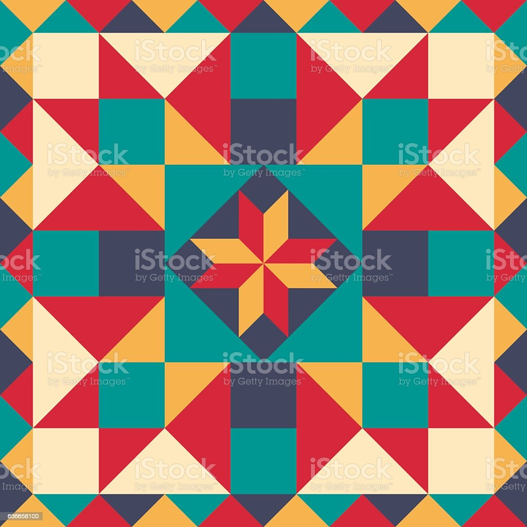 Seamless pattern in style of patchwork, vector. vector art illustration