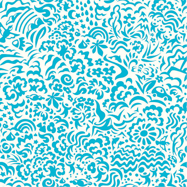 Seamless pattern lifestyle vector art illustration