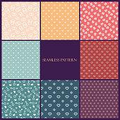 simple pattern love set on pastel background
