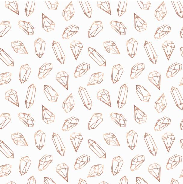 seamless pattern made of crystals and stones, gems - gemstone stock illustrations, clip art, cartoons, & icons