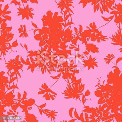 istock seamless pattern made of flowers silhouettes 1217867492