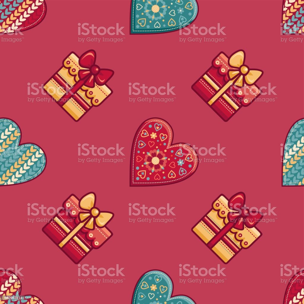 Seamless pattern. Merry Christmas toy. royalty-free seamless pattern merry christmas toy stock vector art & more images of abstract