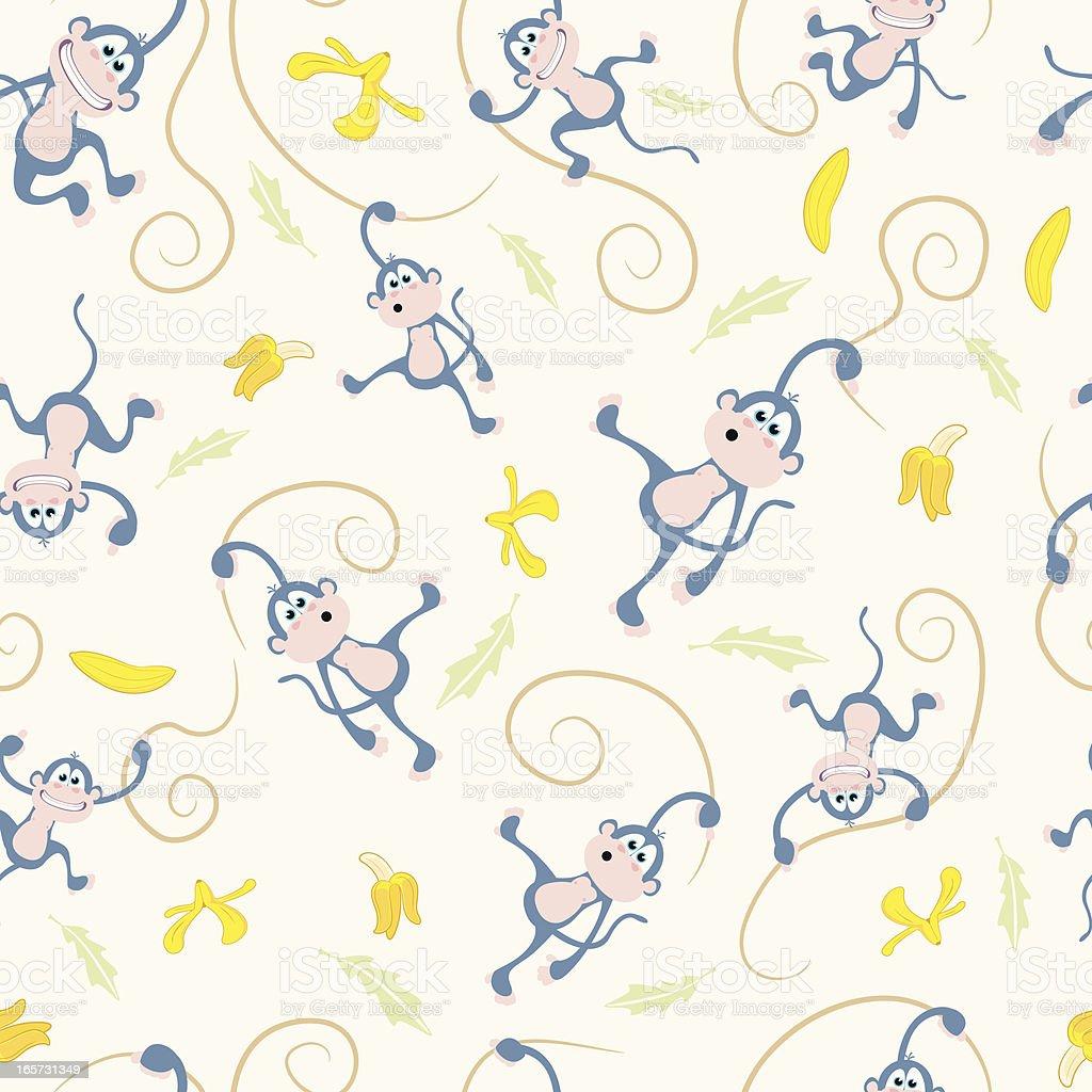 Ilustración de Patrón Sin Costuras De Los Monos Vines Y Los Plátanos ...