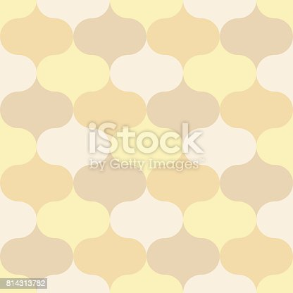 Seamless Pattern Moroccan theme, geometric background tile, yellow, cream and brown tone