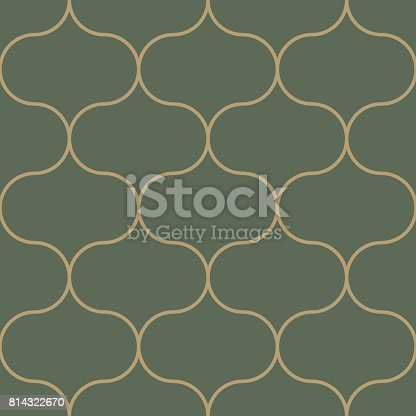 Seamless pattern moroccan vintage style, thin line tile with elegant theme background vector