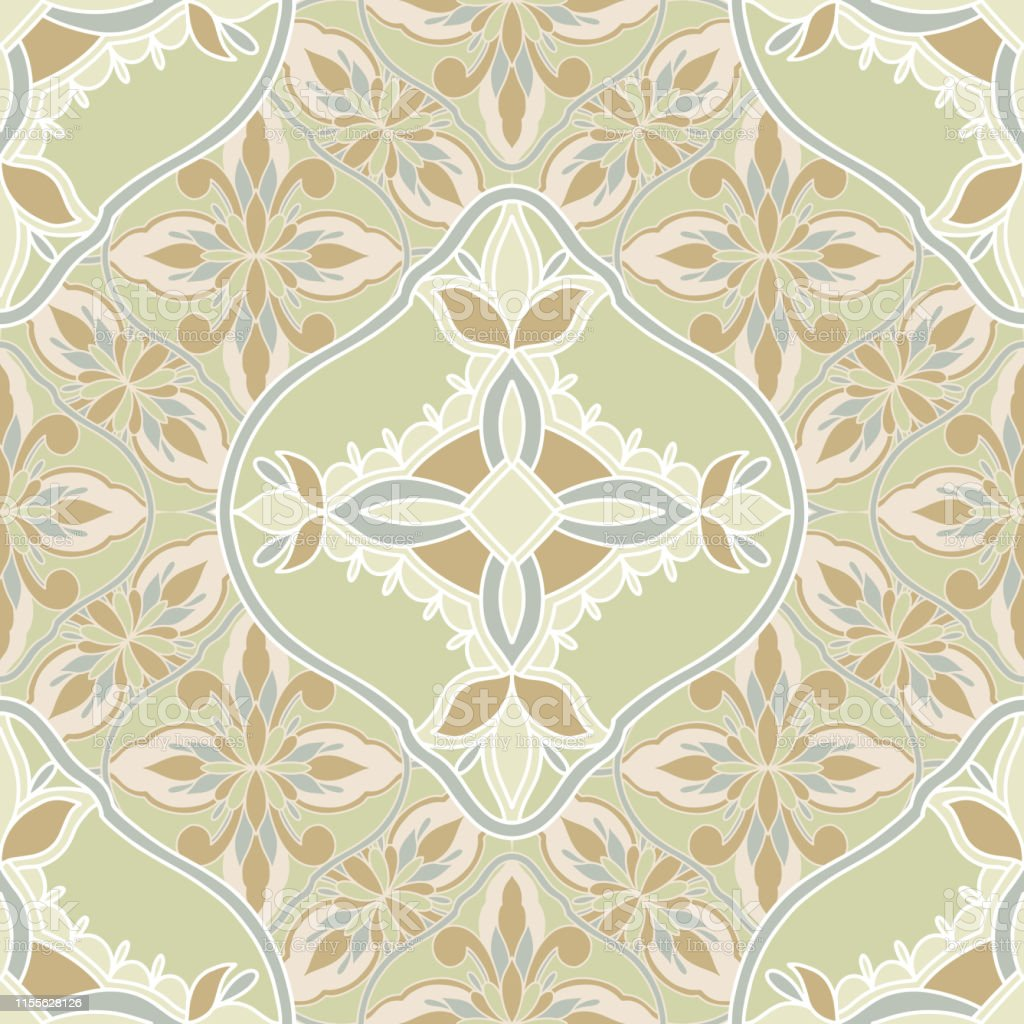 Seamless pattern mosaic oriental. Traditional antique ornament...