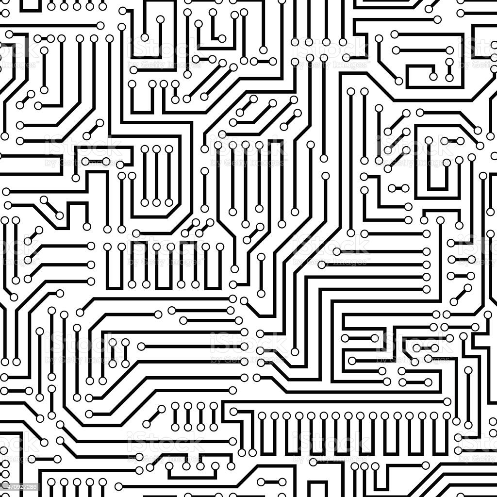 seamless pattern of a black circuit board stock vector art  u0026 more images of 2015 470927286