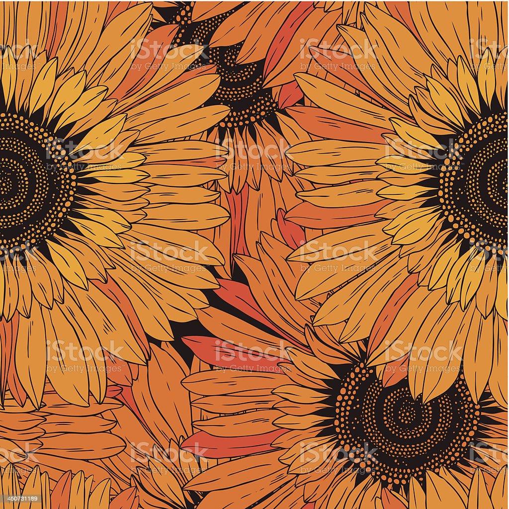Seamless Pattern Di Sfondo Fiori Girasoli Immagini Vettoriali