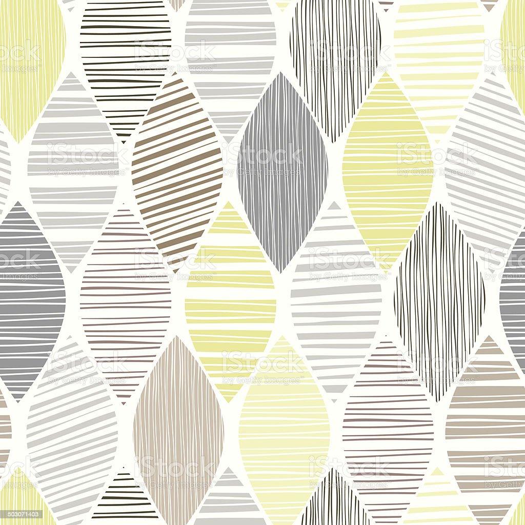 Motif abstrait sans couture à feuilles sur fond blanc. - Illustration vectorielle