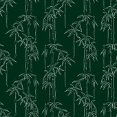 Vector background of tropical bamboo forest.